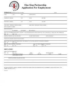 Editable Hiring Form Template