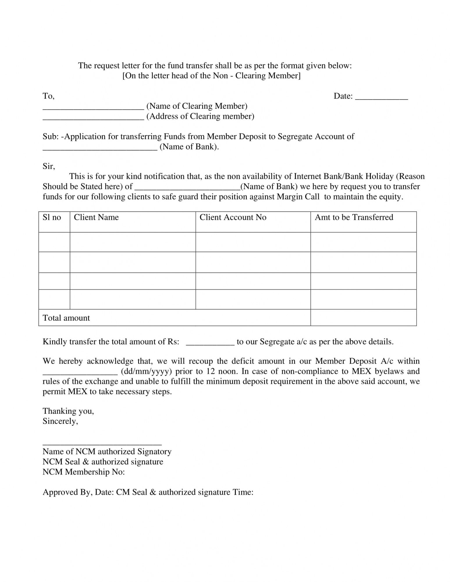 Free Request For Funds Form Template Word