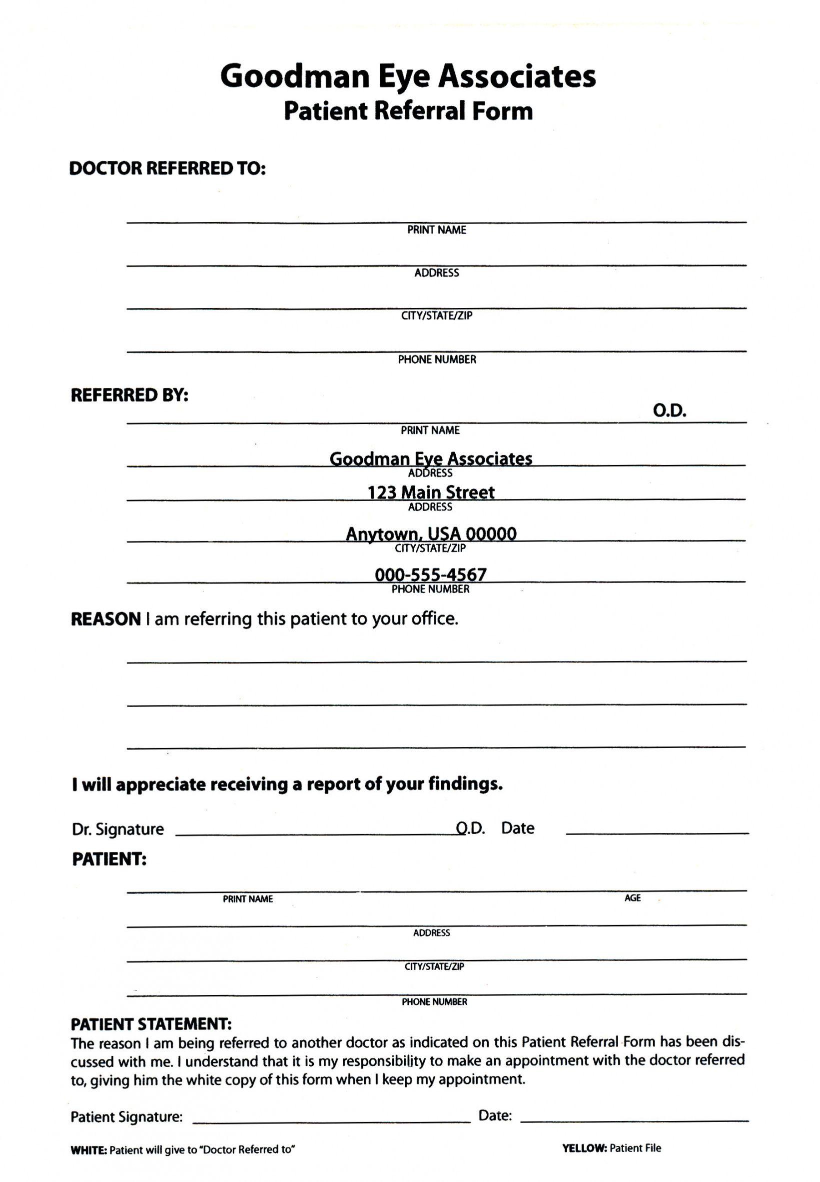 Patient Update Form Template Excel Example