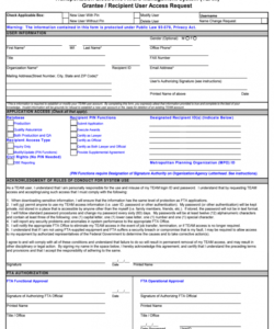 Printable Access Form Template Doc Example