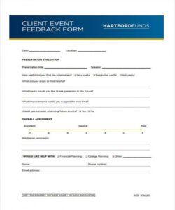 Printable Customer Feedback Form Template Pdf Example