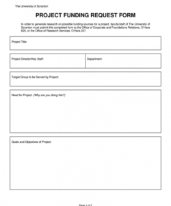 Printable Request For Funds Form Template  Example