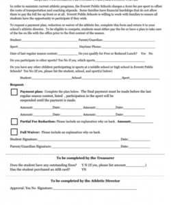 Printable Sports Waiver Form Template Doc Example