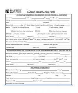 Professional Patient Update Form Template Pdf