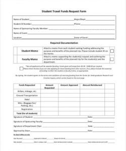 Professional Request For Funds Form Template Excel Example