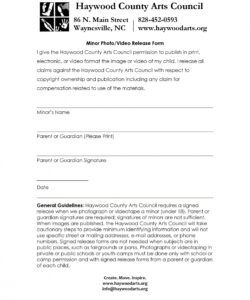 Professional Video And Photo Release Form Template