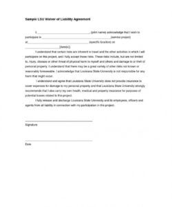 Sports Waiver Form Template Doc