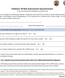 Editable Tb Skin Test Form Template Pdf