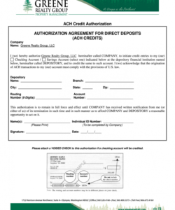 Printable Vendor Ach Form Template Excel