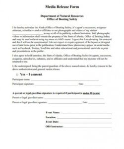 Professional Media Release Form For Minors Template Doc